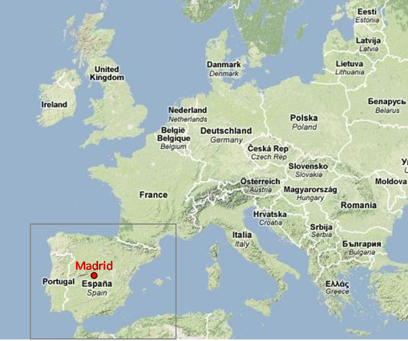 List of Synonyms and Antonyms of the Word madrid map europe